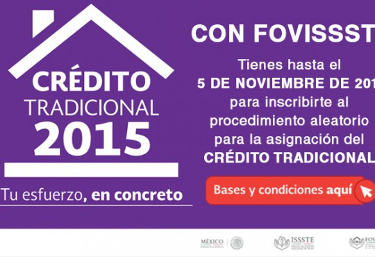 Se abre convocatoria de Crédito Tradicional Fovissste 2015