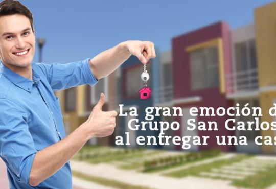 En Grupo San Carlos cada vez que entregamos una casa es una gran emoción.