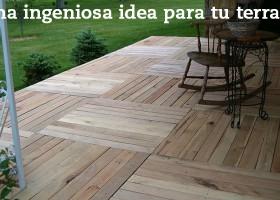Una ingeniosa idea para tu terraza