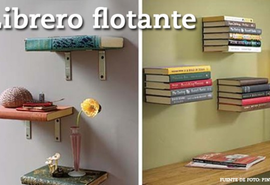Libreros flotantes