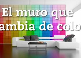 Muro que cambia de color