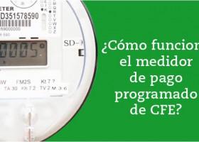 Medidor de pago programado de CFE
