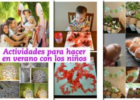 Actividades para hacer en verano con los niños