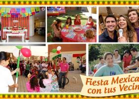 Fiesta mexicana con tus vecinos