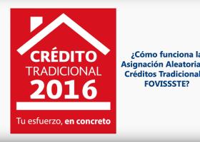 Crédito Tradicional FOVISSSTE 2016
