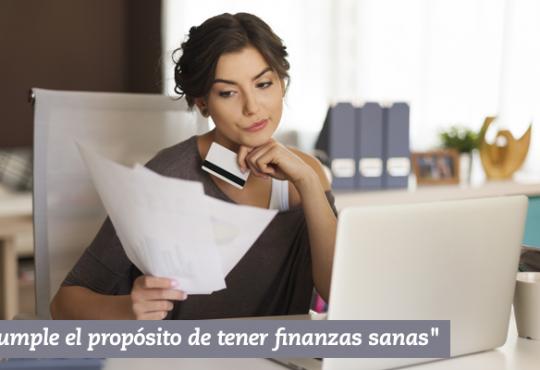 Cumple el propósito de tener finanzas sanas