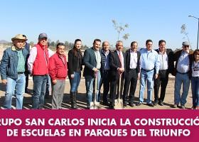 Grupo San Carlos construye escuelas en Parques del Triunfo