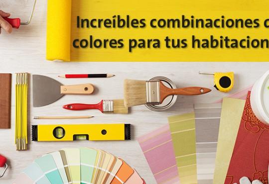 Increíbles combinaciones de colores para tus habitaciones