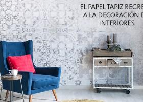 El papel tapiz regresa a la decoración de interiores