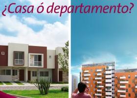 Casa o departamento, ¿qué me conviene?